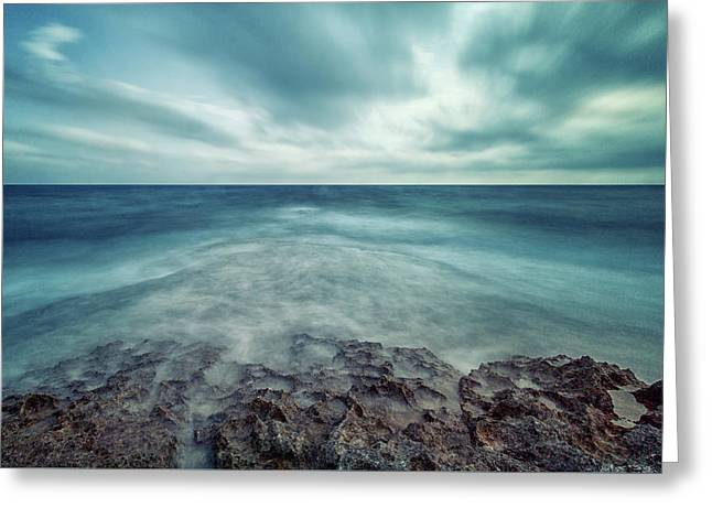 Infinity Sea Greeting Card by Stelios Kleanthous