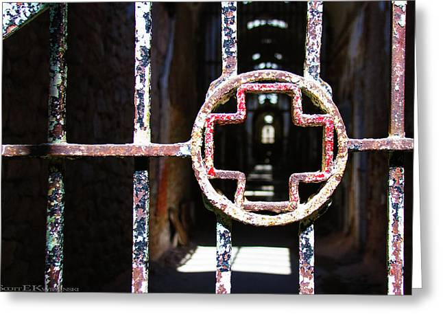 Infirmary Wing At Eastern State Penitentiary Greeting Card by Scott Kwiecinski