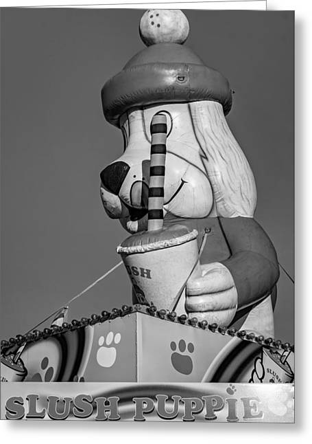 Inflated Temptation 2 - Bw Greeting Card