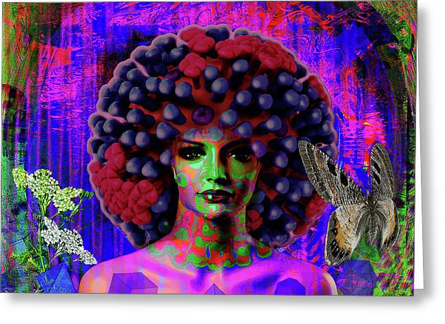 Influenza She Has Gone Viral Greeting Card by Joseph Mosley