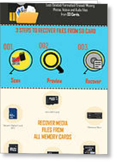 Infographic Guide On Sd Card Data Recovery Greeting Card