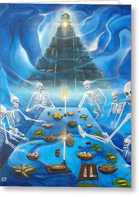 Inframundo  Underworld Greeting Card by Angel Ortiz