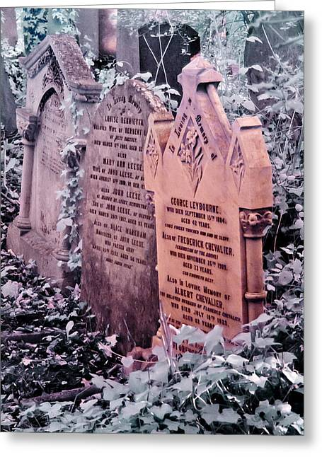 Music Hall Stars At Abney Park Cemetery Greeting Card