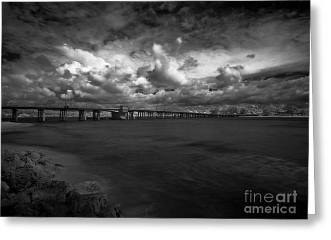Infrared Longboat Pass Bridge Greeting Card