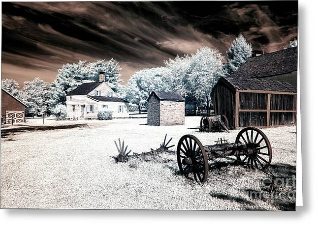 Infrared Olde Towne Greeting Card by John Rizzuto