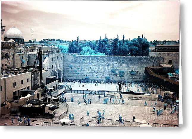 Infrared Western Wall Greeting Card