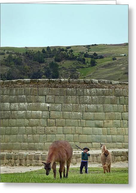 Ingapirca Incan Ruins 111 Greeting Card