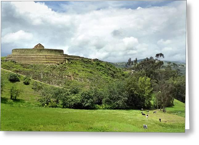 Ingapirca Incan Ruins 128 Greeting Card