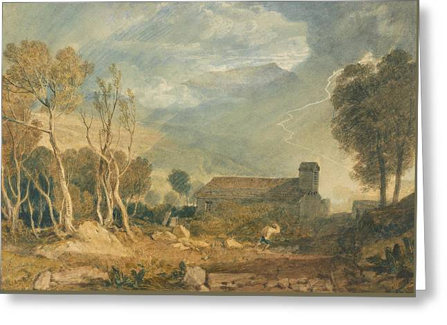 Ingleborough From Chapel Le Dale Greeting Card by Joseph Mallord William Turner