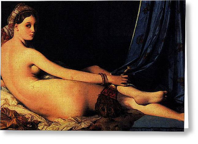 Ingres Jean Auguste Dominique The Grande Odalisque Greeting Card