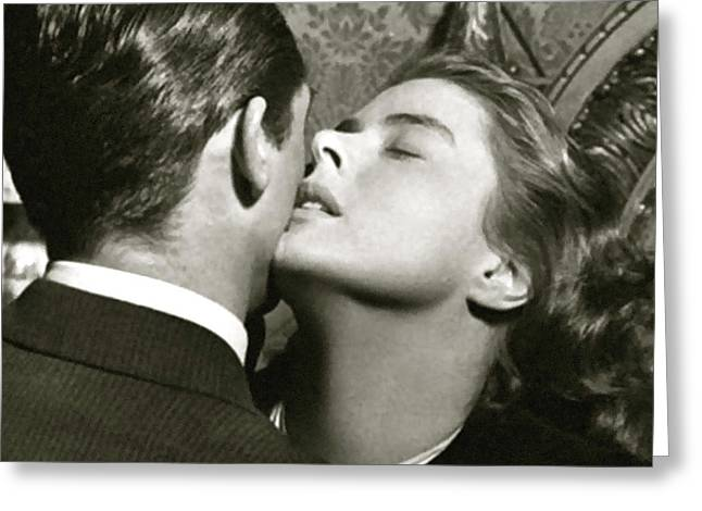 Ingrid Bergman And Cary Grant, Notorious .  Greeting Card