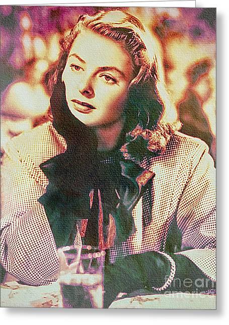 Ingrid Bergman - Movie Legend Greeting Card
