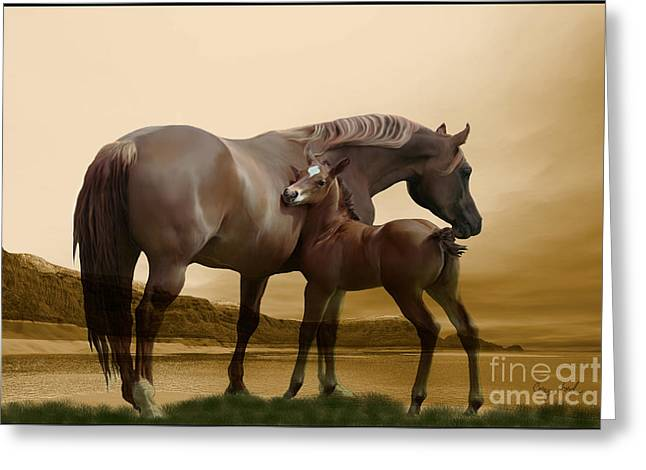 Gelding Greeting Cards - Inherit the Wind Greeting Card by Corey Ford