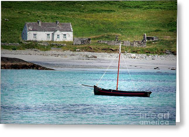 Inishbofin Boat Greeting Card