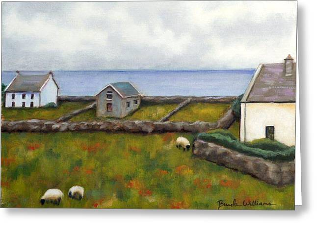 Inishmore Island Greeting Card by Brenda Williams