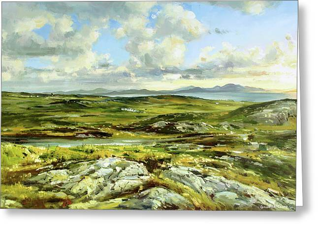 Sea Scape Greeting Cards - Inishowen Penninsula Greeting Card by Conor McGuire