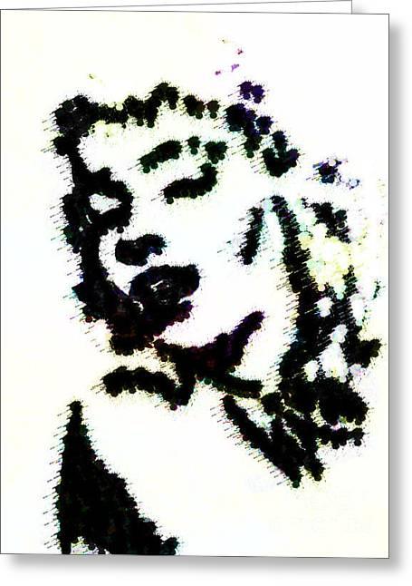 Ink Blot Monroe Greeting Card by Arianna Trombley