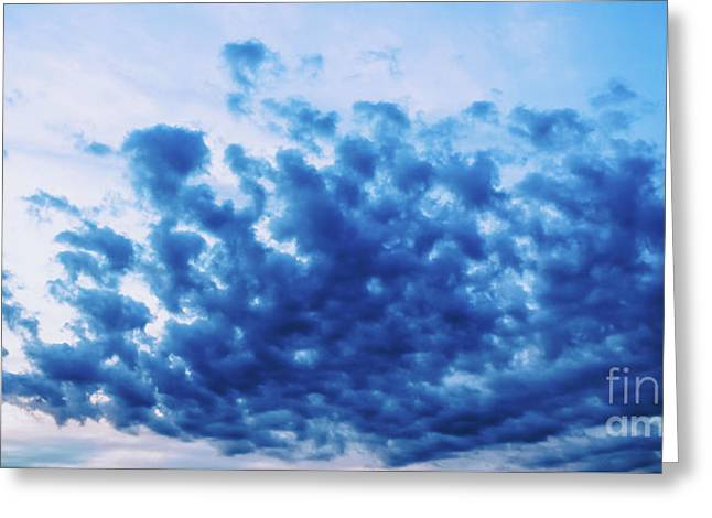 Greeting Card featuring the photograph Ink Blot Sky by Colleen Kammerer