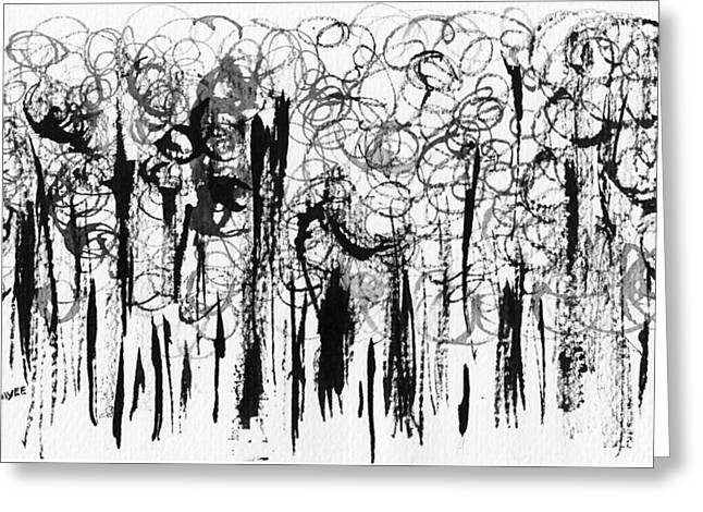 Ink Forest Greeting Card by Oiyee At Oystudio