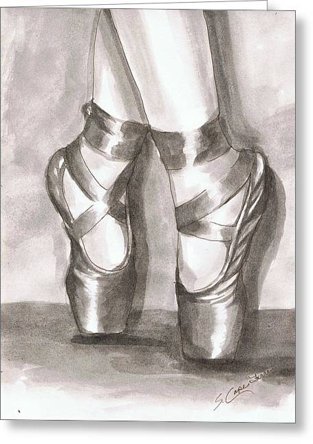 Ink Wash En Pointe Greeting Card