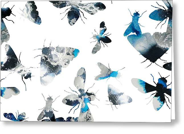 Inky Insects Greeting Card