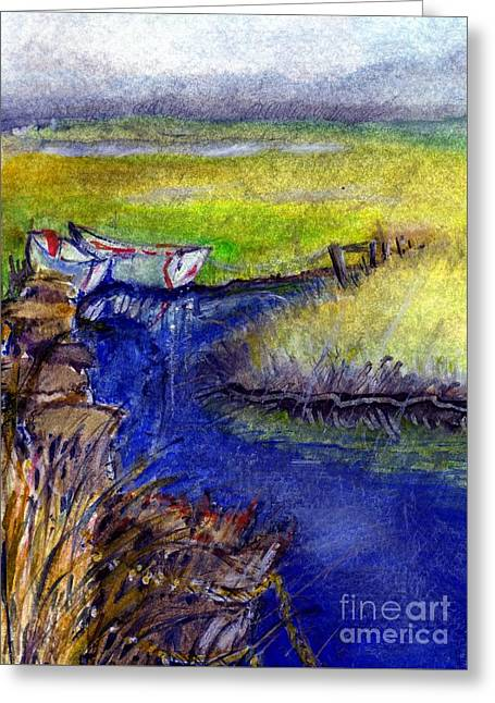 John Boat Creek Greeting Card