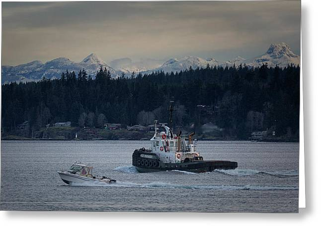 Greeting Card featuring the photograph Inlet Crusader by Randy Hall