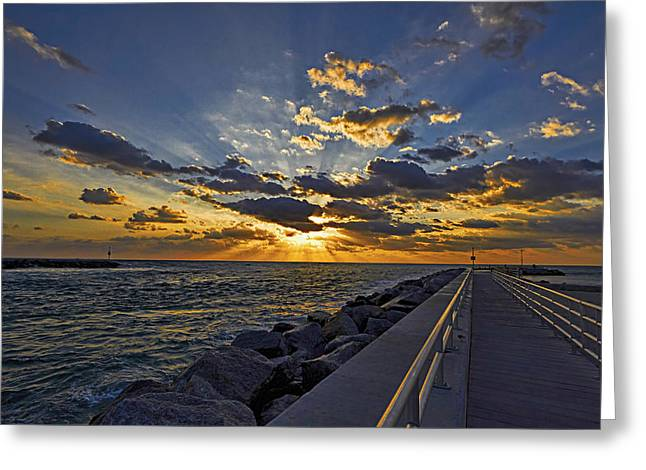 Inlet Sunrise Greeting Card by Island Photos
