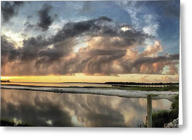 Inlet Sunrise Panorama Greeting Card
