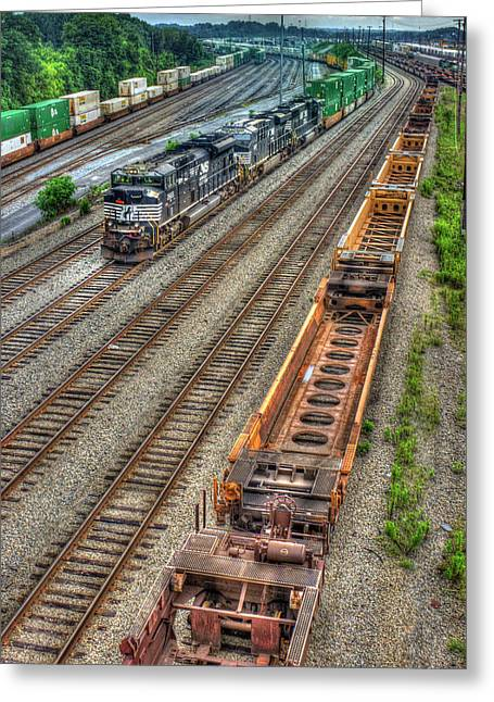 Inman Intermodal Yard Atlanta Norfolk Southern Railway Locomotive 2665 Art Greeting Card