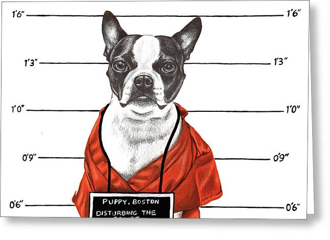 Inmate Greeting Card by Courtney Kenny Porto