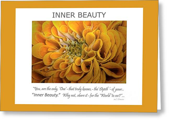 Inner Beauty Inspirational Art Greeting Card