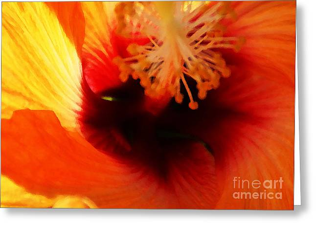 Inner Beauty Greeting Card by Linda Shafer