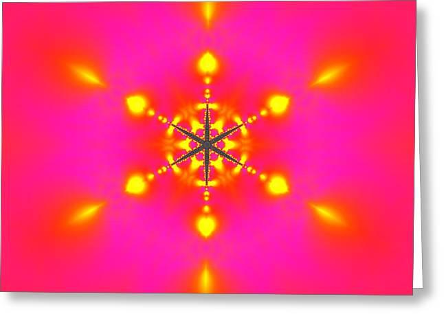 Greeting Card featuring the digital art Inner Comet 3 by Robert Thalmeier