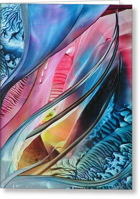 Inner Glow Greeting Card by John Vandebrooke