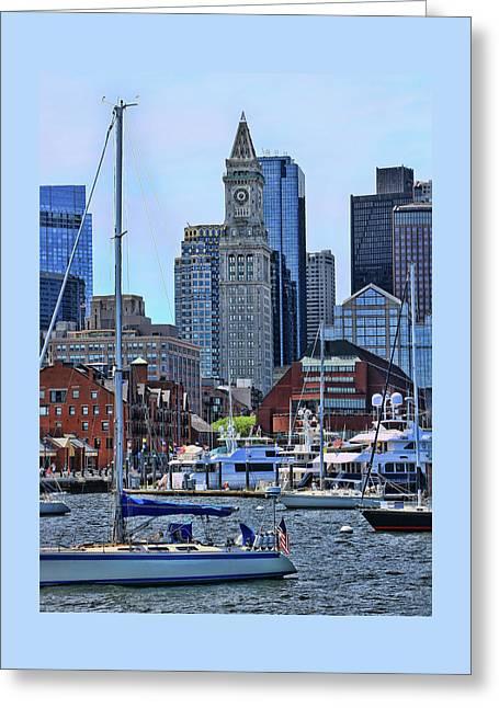 Inner Harbor # 2 - Boston Greeting Card