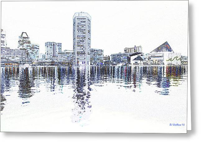 Inner Harbor - Baltimore Greeting Card by Brian Wallace