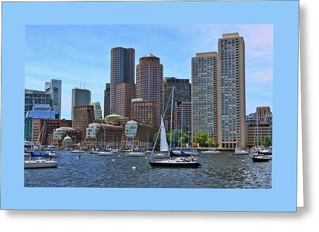 Inner Harbor - Boston Greeting Card