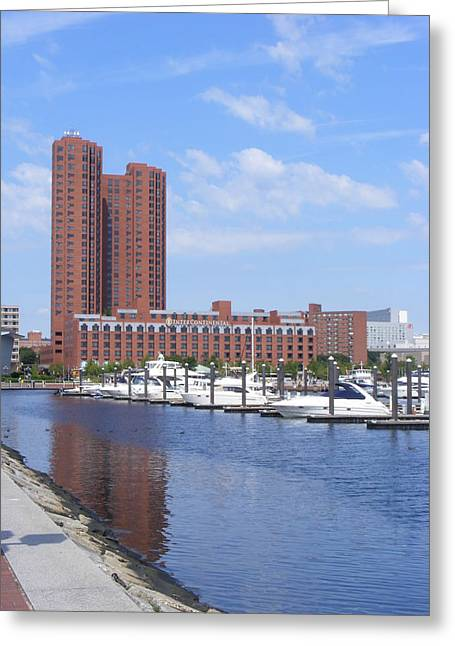 Inner Harbor Greeting Card by James and Vickie Rankin