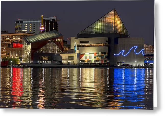 Inner Harbor Reflections Greeting Card by Brian Wallace