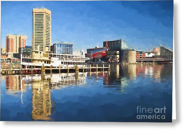 Inner Harbor Reflections  Greeting Card