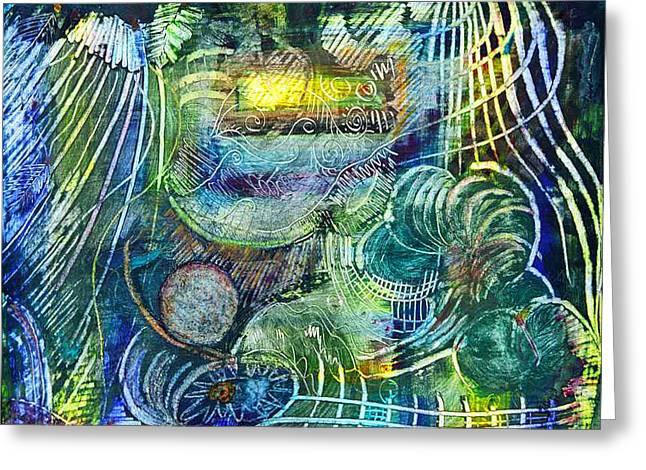 Inner Journey Greeting Card by Ishwar Malleret