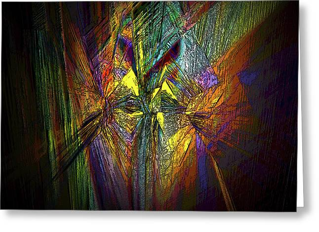 Greeting Card featuring the digital art Inner Labyrinth by Irma BACKELANT GALLERIES