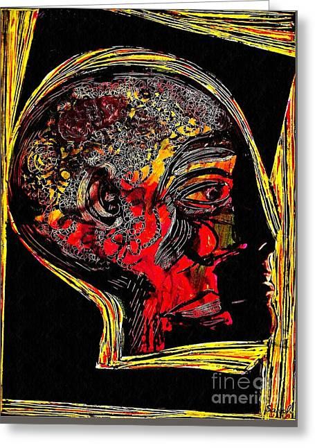 Inner Man Greeting Card by Sarah Loft