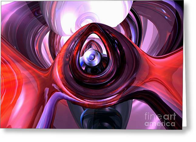 Inner Peace Abstract Greeting Card by Alexander Butler