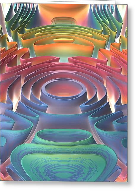 Greeting Card featuring the digital art Inner Sanctum by Lyle Hatch