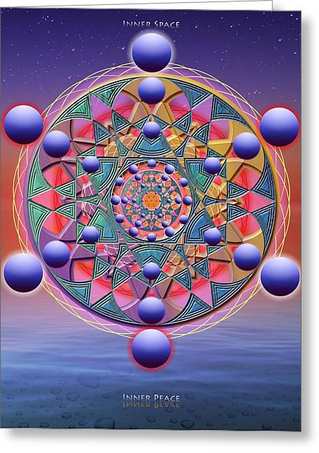 Sacred Circle Greeting Cards - Inner Space Greeting Card by Arie Van der Wijst