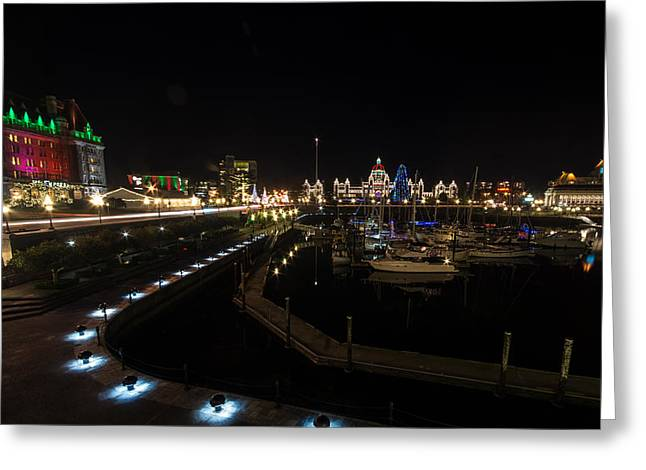 Inner Harbour Of Victoria Bc Greeting Card