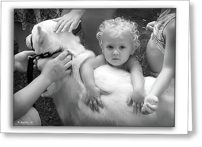 Innocence And Love Greeting Card by Brian Wallace
