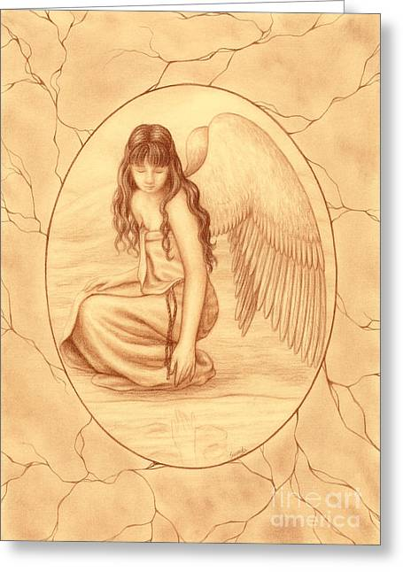 Innocence Greeting Card by Enaile D Siffert